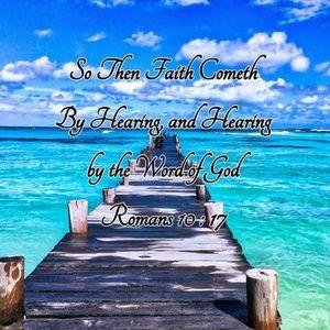 Pillow Cover- New- Christian  Romans  10:17  Faith